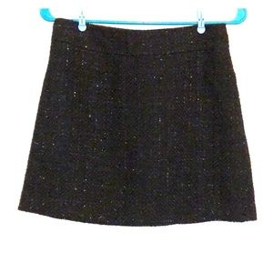 Tweed sparkly holiday mini skirt S